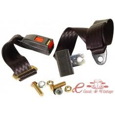 Cinturón trasero negro manual 2 puntos de atadura
