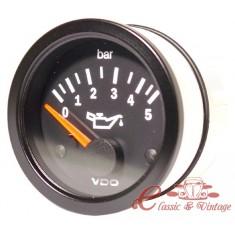 Manometro de presión de aceite 0-5 bars diam 52mm VDO
