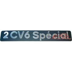Monograma 2CV6 SPECIAL inox maletero trasero