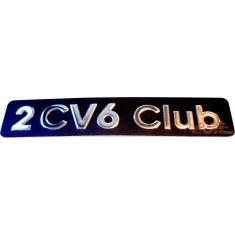 Monograma 2CV6 CLUB para maletero trasero
