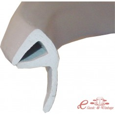 Junta de goma entre vidrios de puerta delantera (export) gris claro