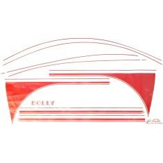 kit completo de adhesivos para DOLLY rojo/blanco y rojo /gris