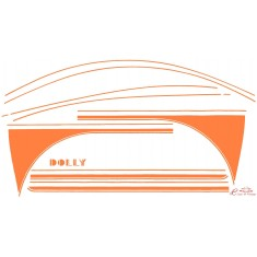 kit completo adhesivos DOLLY naranja