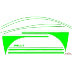 kit completo adhesivos DOLLY verde