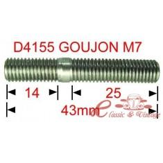 Tornillo de fijación de colector de admisión-escape M7 L43 14-25